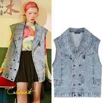 ELF SACK Casual Style Street Style Vest Cardigans