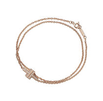 Tiffany & Co Tiffany T 18K Gold Elegant Style Bracelets