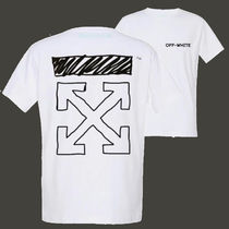 Off-White Street Style Short Sleeves Oversized T-Shirts