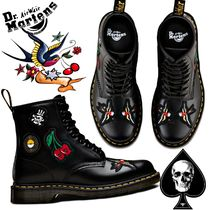 Dr Martens 1460 Skull Unisex Street Style Leather Chukkas Boots