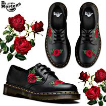 Dr Martens 1460 Flower Patterns Casual Style Unisex Street Style Leather