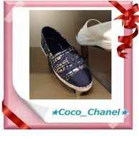 CHANEL Platform Lace-Up Shoes