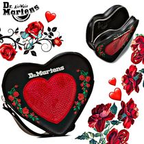 Dr Martens Heart Flower Patterns Casual Style Blended Fabrics Leather