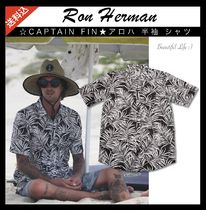 Ron Herman Button-down Tropical Patterns Cotton Short Sleeves Handmade