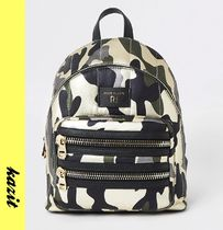 River Island Camouflage Casual Style Backpacks