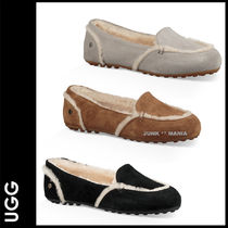 UGG Australia HAILEY FLUFF LOAFER Plain Toe Moccasin Casual Style Sheepskin Plain Flats
