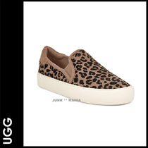 UGG Australia Leopard Patterns Plain Toe Casual Style Spawn Skin