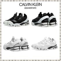Calvin Klein 205W39NYC Blended Fabrics Leather Sneakers