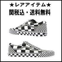 VANS OLD SKOOL Gingham Rubber Sole Casual Style Unisex Street Style