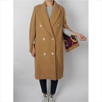 Golden Goose Plain Long Office Style Peacoats
