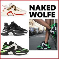 Naked Wolfe Leopard Patterns Casual Style Street Style Plain Leather