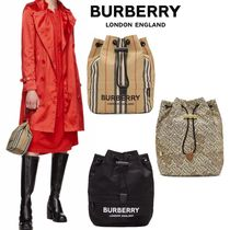 Burberry Other Check Patterns Monogram Nylon Purses Bags