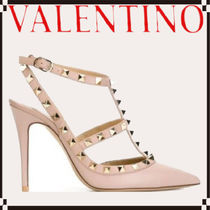 VALENTINO Star Studded Leather Elegant Style High Heel Pumps & Mules