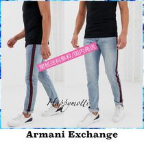 A/X Armani Exchange Stripes Denim Plain Jeans & Denim