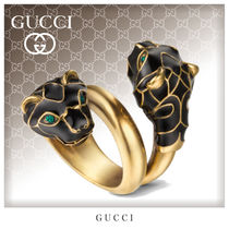 GUCCI Unisex Street Style Metal Rings
