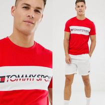 Tommy Hilfiger Pullovers Street Style Cotton Short Sleeves Henley T-Shirts