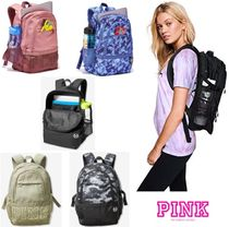 Victoria's secret PINK Camouflage Casual Style Khaki Backpacks