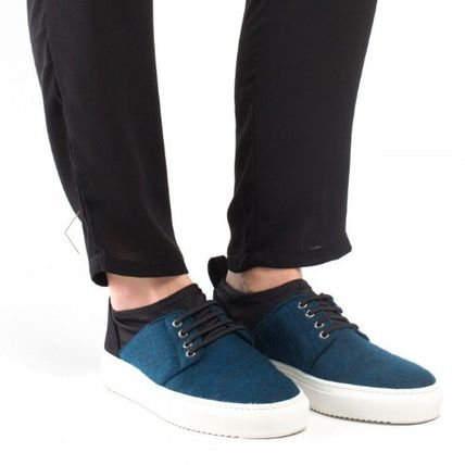 Casual Style Unisex Bi-color Low-Top Sneakers