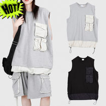Raucohouse Unisex Street Style Plain Cotton Oversized Tanks