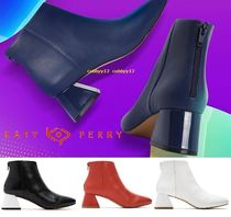 Katy Perry Open Toe Blended Fabrics Street Style Plain Boots Boots