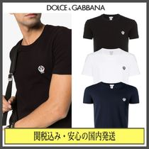 Dolce & Gabbana Crew Neck Street Style Plain Cotton Short Sleeves