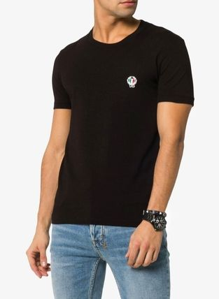 Dolce & Gabbana Crew Neck Crew Neck Street Style Plain Cotton Short Sleeves 5