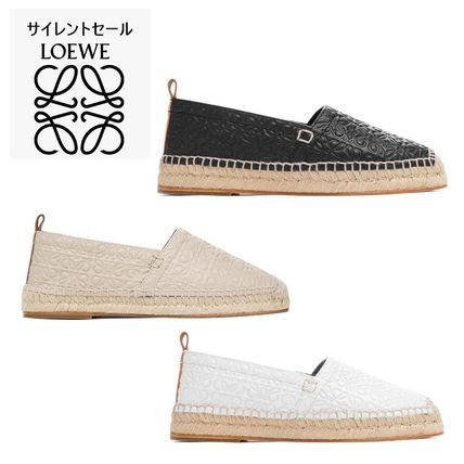Casual Style Leather Flats