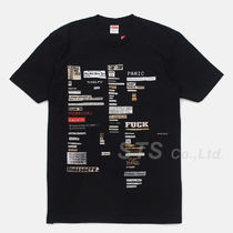 Supreme Crew Neck Unisex Street Style Short Sleeves