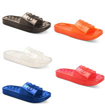 Calvin Klein CALVIN KLEIN JEANS Street Style Plain Shower Shoes PVC Clothing Shower Sandals