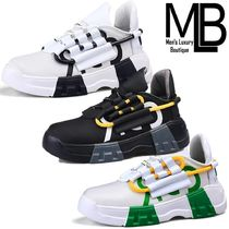 Mens Luxury Boutique Street Style Plain Sneakers
