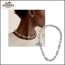 HERMES Chain Silver Necklaces & Chokers