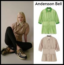 ANDERSSON BELL Casual Style Street Style Short Sleeves Shirts & Blouses