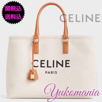 CELINE Cabas Canvas Office Style Totes