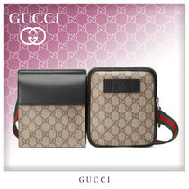 GUCCI GG Supreme Casual Style Unisex Canvas Street Style Bags