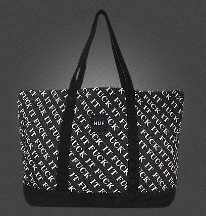 Casual Style Street Style Logo Totes