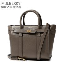 Mulberry Bayswater A4 Plain Leather Elegant Style Handbags
