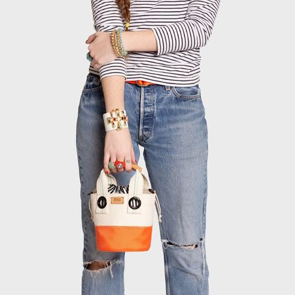Canvas Bi-color Shoulder Bags