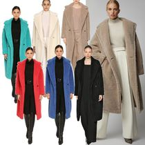 MaxMara Plain Medium Elegant Style Chester Coats