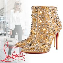 Christian Louboutin Studded Leather Pin Heels Party Style Ankle & Booties Boots