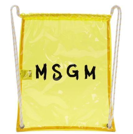 Casual Style Street Style Crystal Clear Bags PVC Clothing