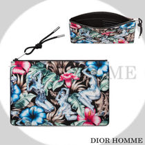 DIOR HOMME Flower Patterns Nylon Clutches