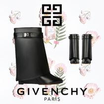 GIVENCHY Plain Leather Wedge Boots