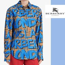 Burberry Other Check Patterns Long Sleeves Medium Shirts & Blouses