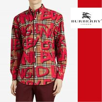 Burberry Other Check Patterns Long Sleeves Shirts