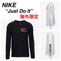 Nike Crew Neck Street Style Long Sleeves Plain Cotton