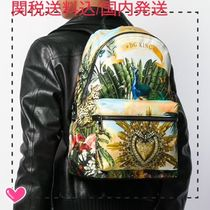 Dolce & Gabbana Flower Patterns Nylon Other Animal Patterns Backpacks