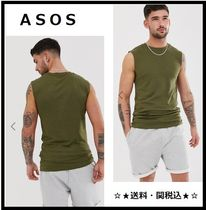 ASOS Street Style Plain Cotton Khaki Tanks