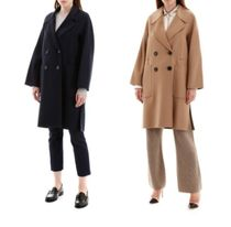 MaxMara Wool Plain Medium Peacoats