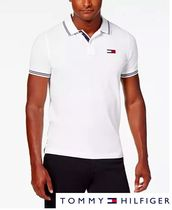 Tommy Hilfiger Plain Cotton Short Sleeves Polos