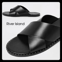 River Island Studded Leather Sandals